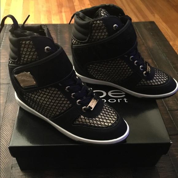 ea0949840430 Bebe high top wedge sneakers